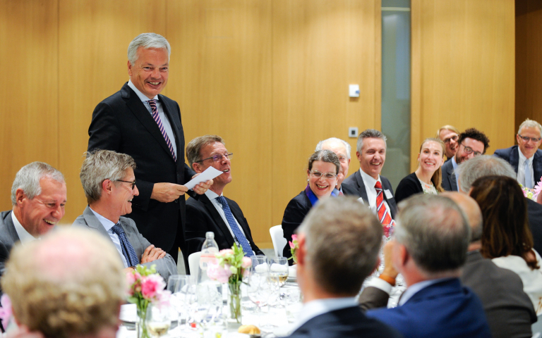 Minister Didier Reynders at an exclusive AmCham Belgium Patron CEO Dinner